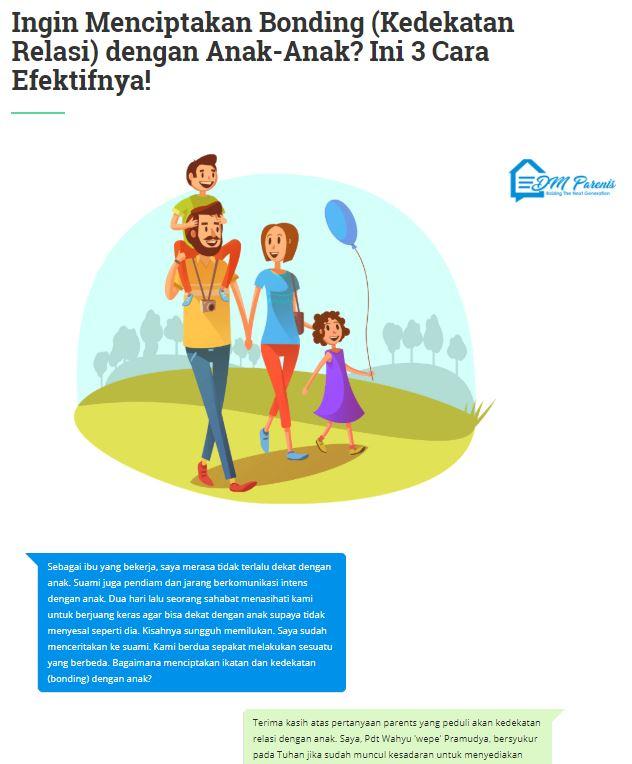 Ingin Menciptakan Bonding (Kedekatan Relasi) dengan Anak-Anak? Ini 3 Cara Efektifnya!